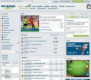 bet at home homepage